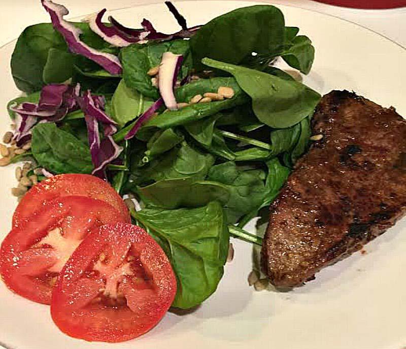 weight loss steak salad