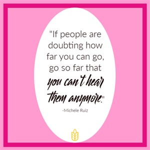 If People are doubting how far you can go...