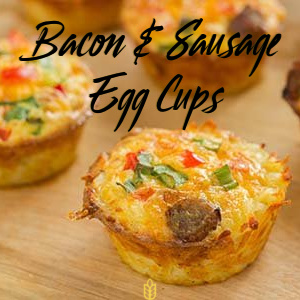 Bacon and Sausage Egg Cups