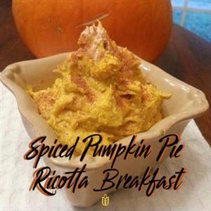 Spiced Pumpkin Pie Ricotta Bowl