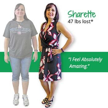 Sharette's weight loss testimonal image