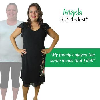 Angela's weight loss testimonal image