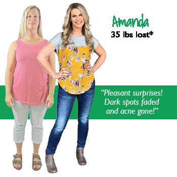 Amanda's weight loss testimonal image