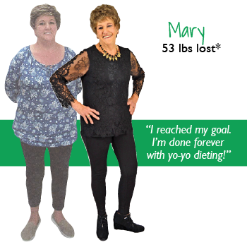 Mary's weight loss testimonal image