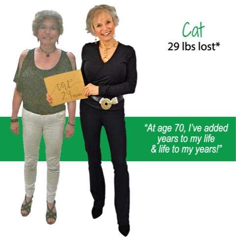 Cat's weight loss testimonal image