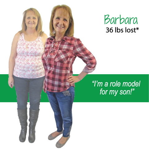 Barbara's weight loss testimonal image