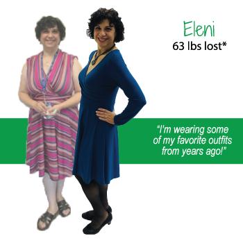 Eleni's weight loss testimonal image