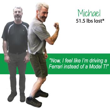 Michael's weight loss testimonal image