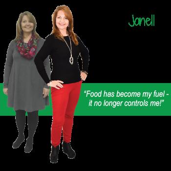 Jonell's weight loss testimonal image