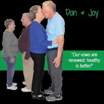 Don & Joy's weight loss testimonal image