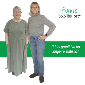 Bonnie's weight loss testimonal image