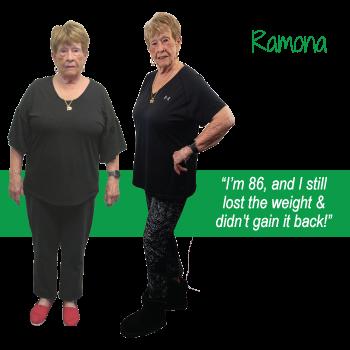 Ramona's weight loss testimonal image