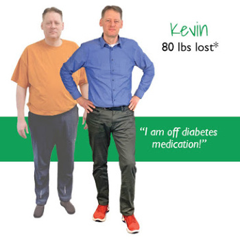 Kevin's weight loss testimonal image