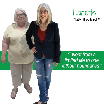 Lanette's weight loss testimonal image