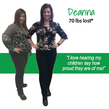 Deanna's weight loss testimonal image