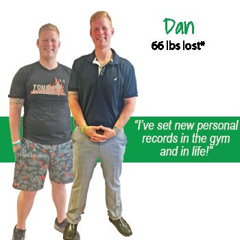 Dan's weight loss testimonal image