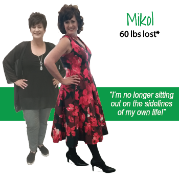 Mikol's weight loss testimonal image