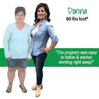 Donna's weight loss testimonal image