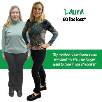 Laura's weight loss testimonal image