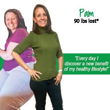 Pam's weight loss testimonal image