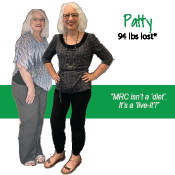 Patty's weight loss testimonal image