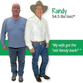 Randy's weight loss testimonal image