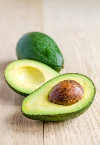 Picture of an avocado which tops the list of food that is both healthy and filling.