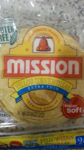 Low Calorie Corn Tortilla