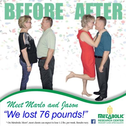 Marlo and Jason lost weight in Columbus GA
