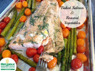 Baked Salmon with Roasted Vegetables