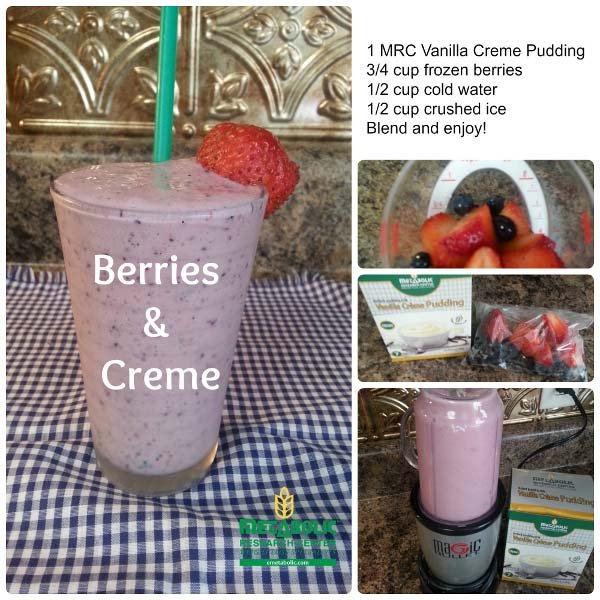 Berries and Creme Healthy Smoothie