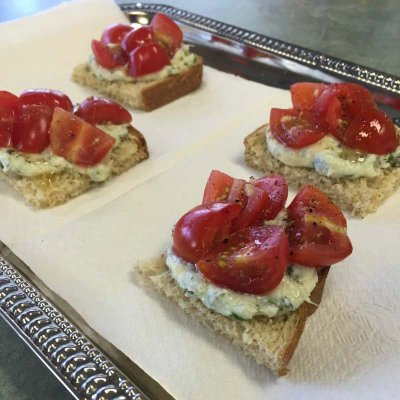 Simple, Clean, and Healthy Ricotta Bruschetta