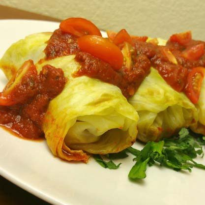Savory and Low Fat Cabbage Roll Ups