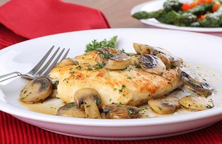Chicken and Mushrooms. Low Carb Recipe from Metabolic Research Center