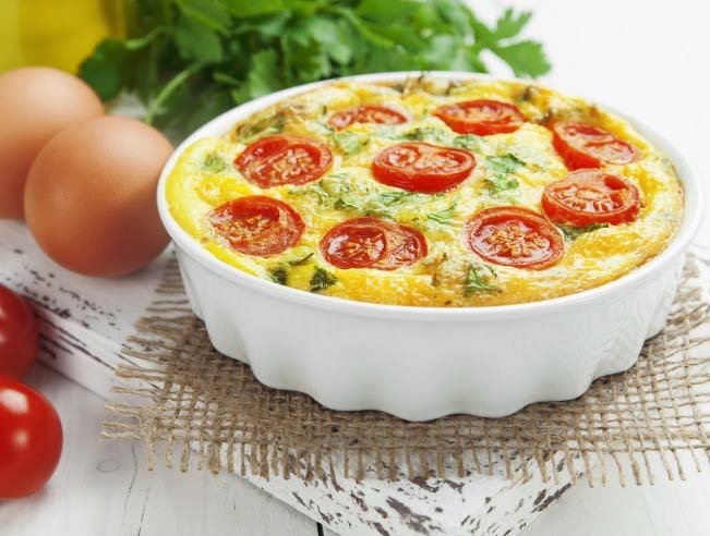 Low Carb Veggie Egg Casserole