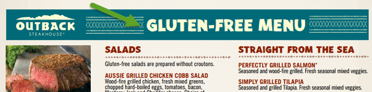 Gluten Free Smart Options for Outback