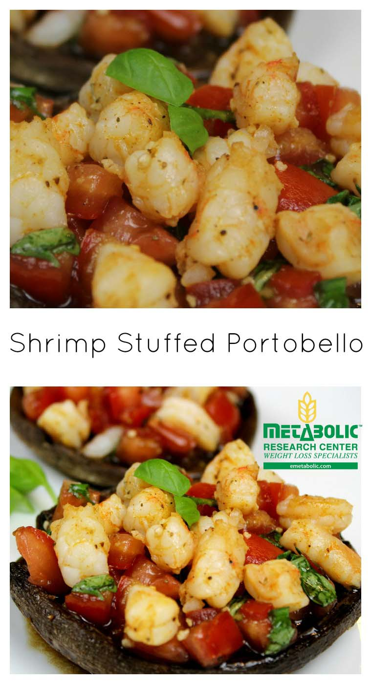 Shrimp Stuffed Portobello. Low Carb. emetabolic.com