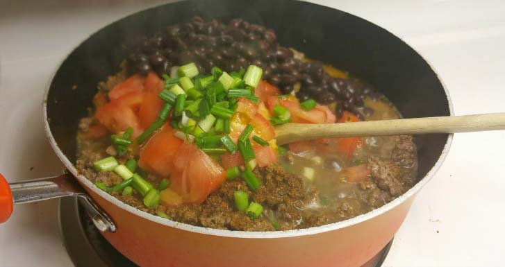 Taco Meat for Healthy Stuffed Pepper Tacos