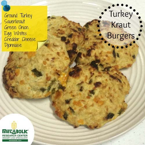 Recipe Image: Turkey Sauerkraut Burgers