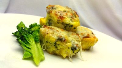 Protein-rich Breakfast Broccoli Souffle with Cheese