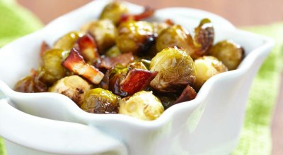 Oven-Roasted Brussels Sprouts with Bacon