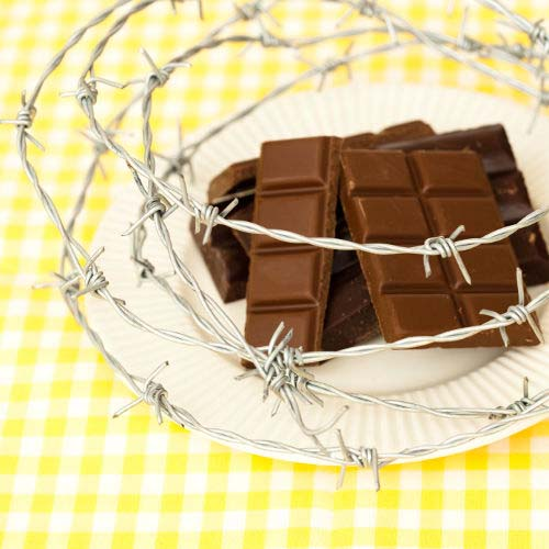 Chocolate Surrounded by Barbwire