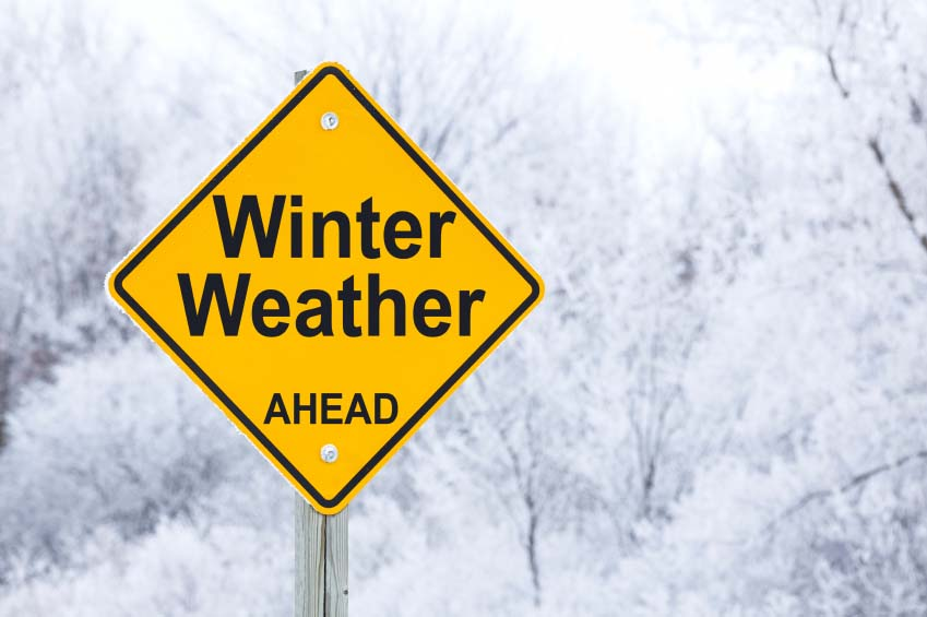 Winter Ahead Sign
