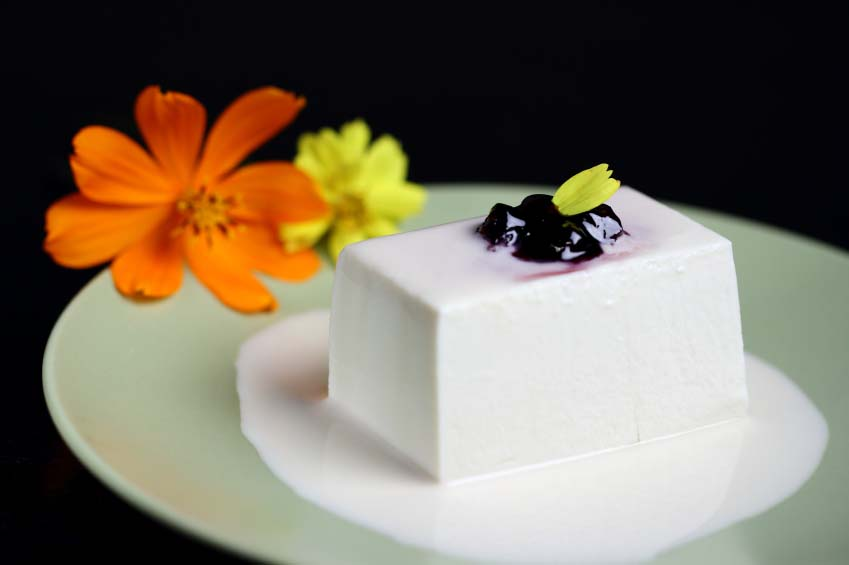 Silken Tofu Garnished