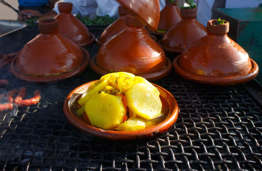 Tagines Cooking Fresh Vegetables