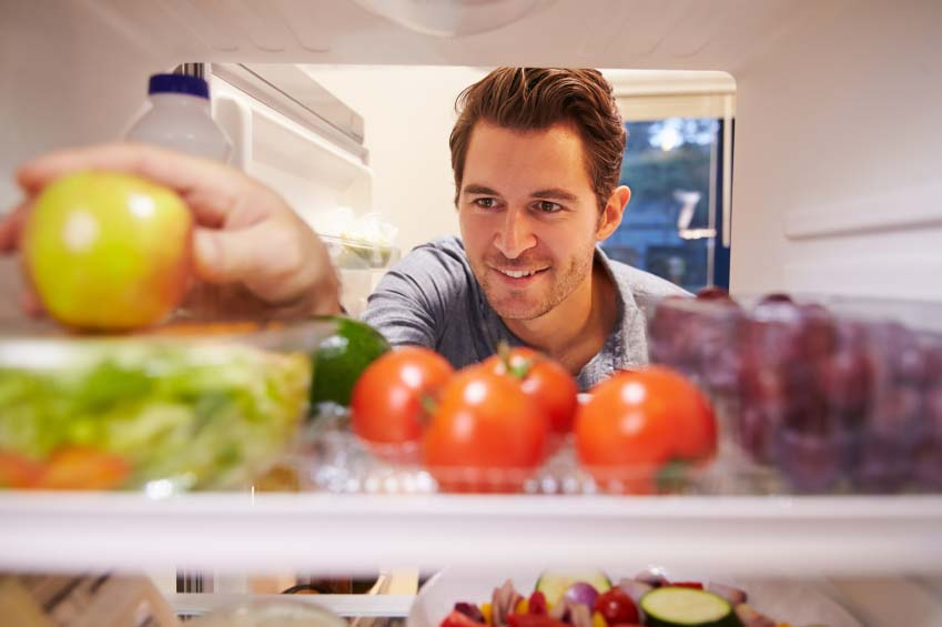 Man Reaching for Healthy Food
