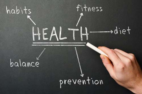 Blackboard of Health Benefits