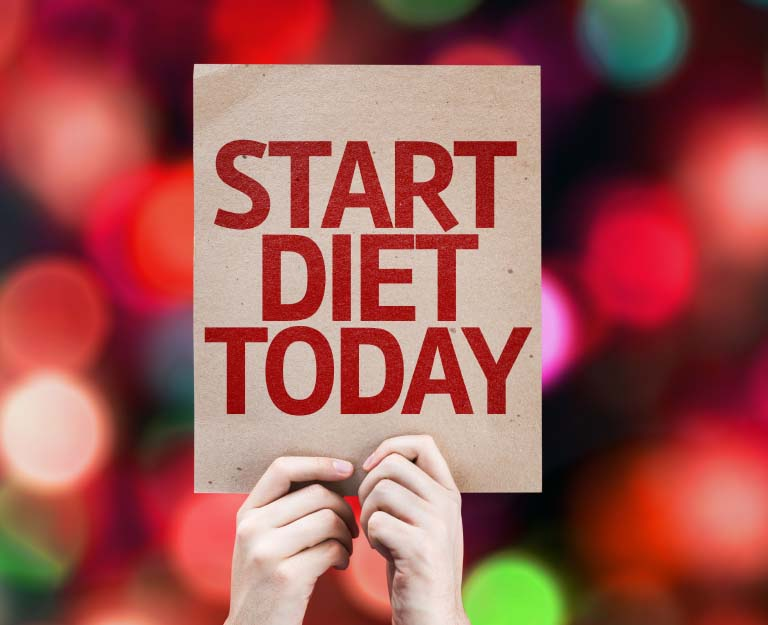 Signage for Start Diet Today