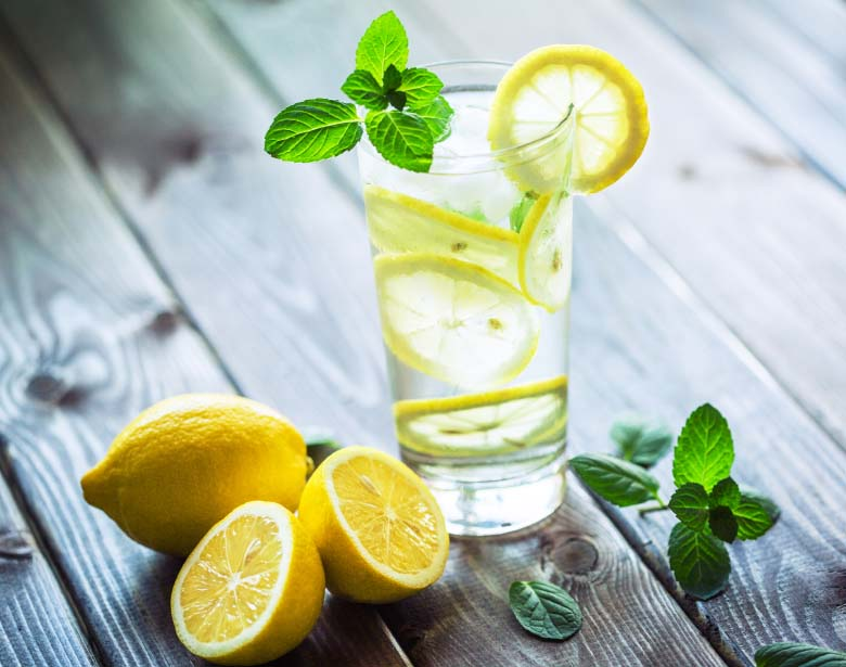 Glass of Fresh Lemon Water