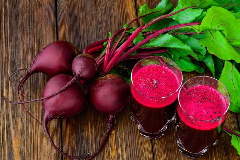 Fresh Beets and Root Juice
